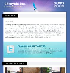 45 Royale Newsletter