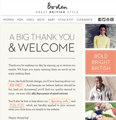 Email gallery page 49 email design inspiration for Boden newsletter
