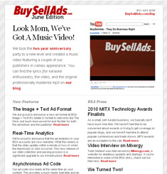 Buy Sell Ads Newsletter