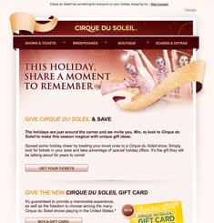 Cirque Du Soleil.com Newsletter