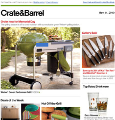 Crate & Barrel Newsletter