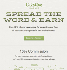 Creative Market Newsletter