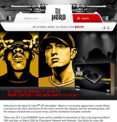 DJ Hero Newsletter