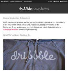 Dribbble Newsletter