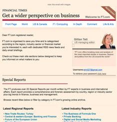 Financial Times Newsletter