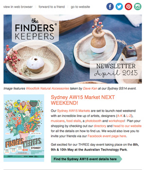 Finders Keepers Newsletter