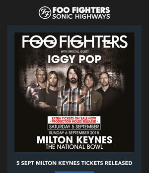 Foo Fighters Newsletter