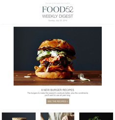 Food 52 Newsletter