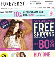 Forever21 Newsletter