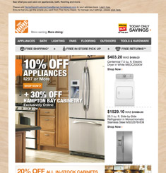 Home Depot Newsletter