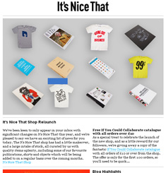 Its Nice That Newsletter