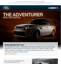 Land Rover Newsletter