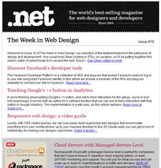 NET Magazine Newsletter