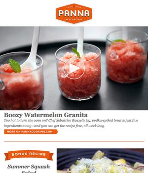 Panna Cooking Newsletter
