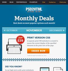 PSD 2 HTML Newsletter