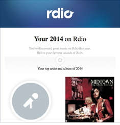 Rdio Newsletter