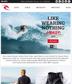 Rip Curl Newsletter