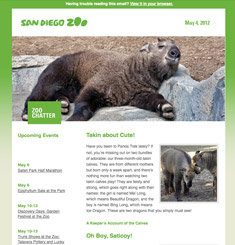 San Diego Zoo Newsletter