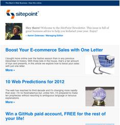 Site Point Newsletter