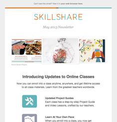 Skill Share Newsletter