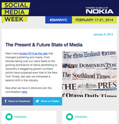 Social Media Week Newsletter