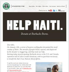 Starbucks Coffee Newsletter