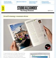 Studio Alexander Newsletter
