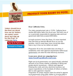 Tax Payers Right to Vote Newsletter