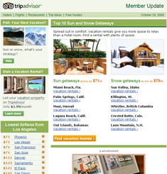 Trip Advisor Newsletter