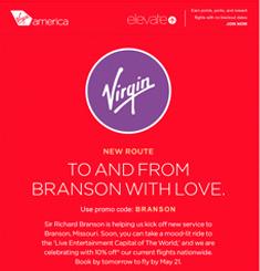 Virgin America Newsletter