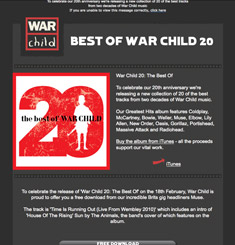 War Child Newsletter
