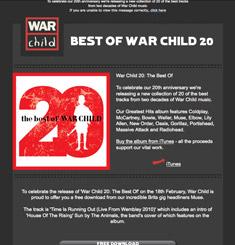 War Child Newsletter