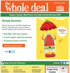 Whole Food Market Newsletter