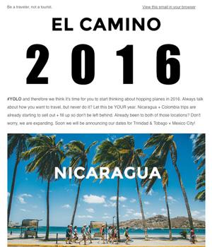 El Camino Travel Newsletter
