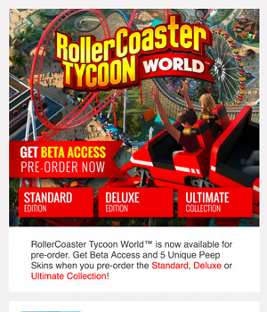 Roller Coaster Tycoon Newsletter