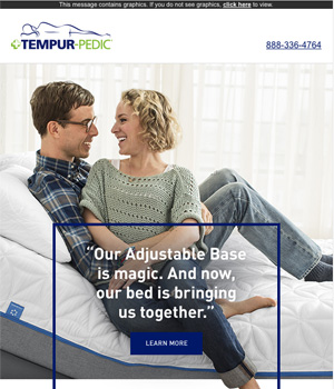 Tempur Pedic Newsletter