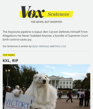 Vox Sentences Newsletter