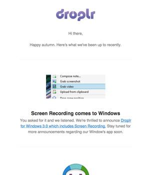 Droplr Newsletter