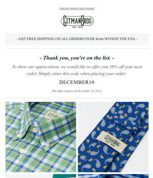Gitmans Bros Newsletter