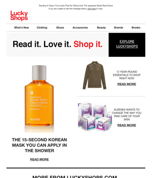 Lucky Shops Newsletter
