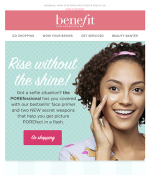 Benefit Cosmetic Newsletter