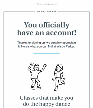 Warby Paker Newsletter