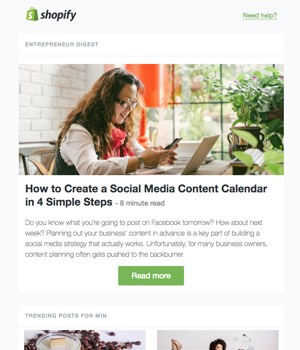 Shopify Digest Newsletter